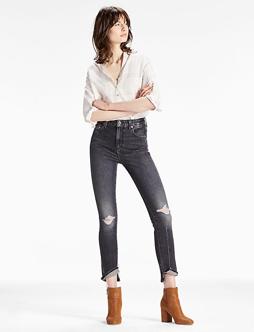 HIGH RISE TOMBOY CROPPED STRAIGHT LEG JEAN WITH SPAT HEM, BOULDER RIDGE