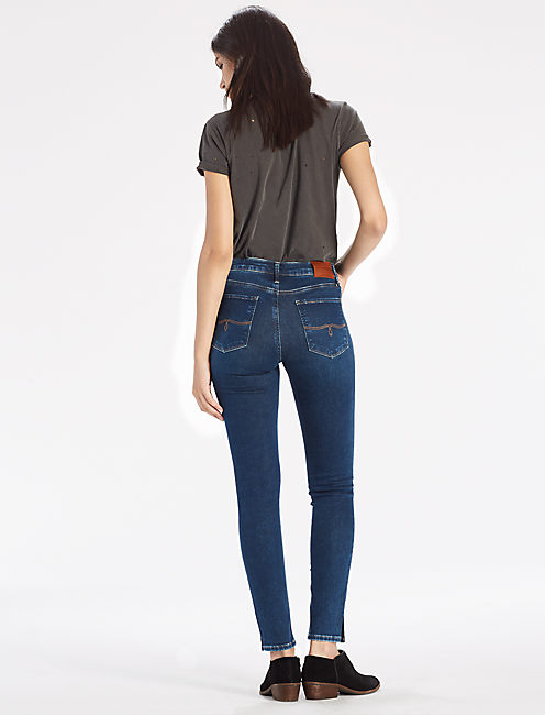 LOLITA SKINNY JEAN WITH SIDE SLIT HEM,
