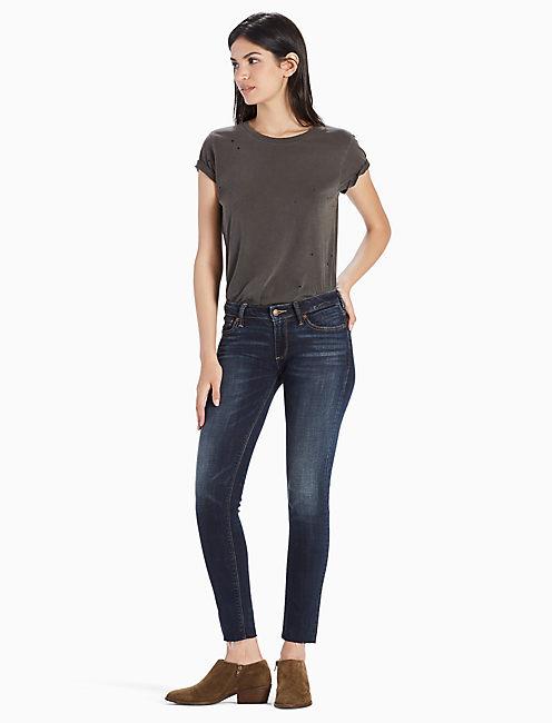 Lucky Sasha Super Skinny Mid Rise Legging Jean In Deer Park