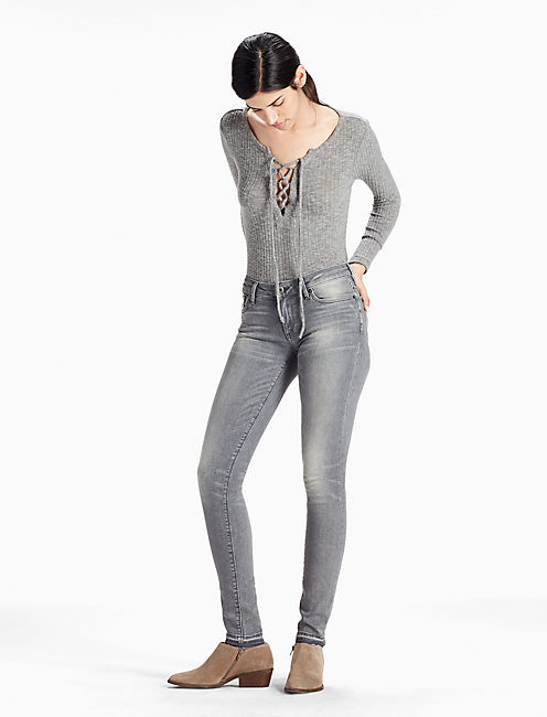 SASHA SUPER SKINNY LEGGING JEAN WITH RELEASED HEM, EMPIRE