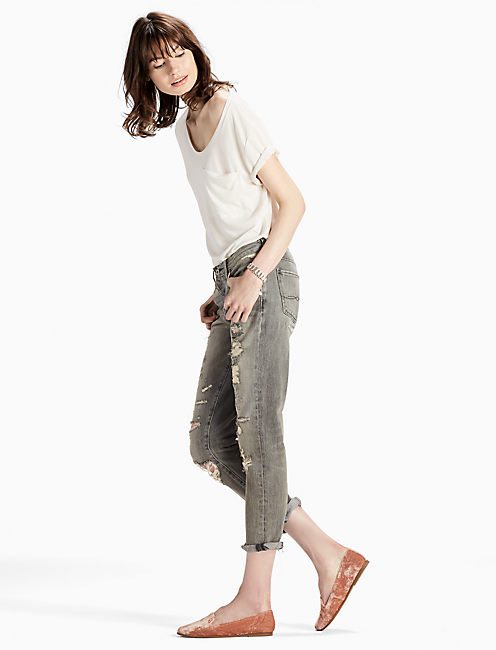 Lucky Sienna Mid Rise Slim Boyfriend Jean In Barry