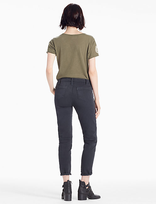 MID RISE CROPPED UTILITY CARGO JEAN IN TAP SHOE, TAP SHOE