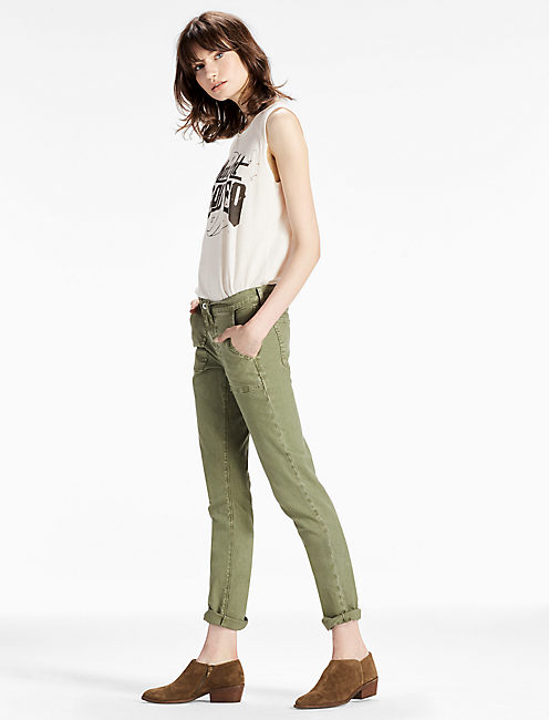 Lucky Sienna Mid Rise Utility Pant In Army Green