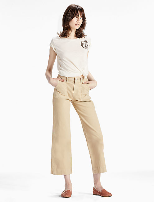Lucky Wide Leg Utility Crop