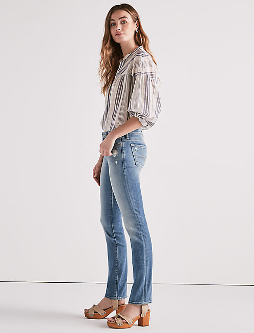 Lucky Sweet Mid Rise Straight Leg Jean In Granger