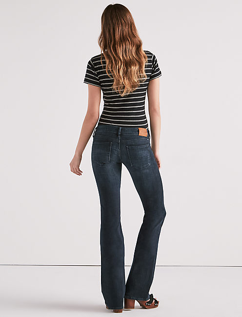 LIL MAGGIE LOW RISE FLARE JEAN IN HUXLEY, HUXLEY