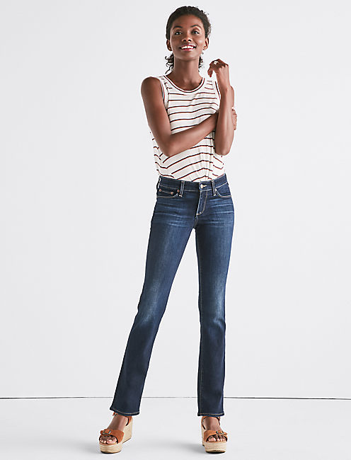 SWEET STRAIGHT LEG JEAN IN TWILIGHT BLUE,