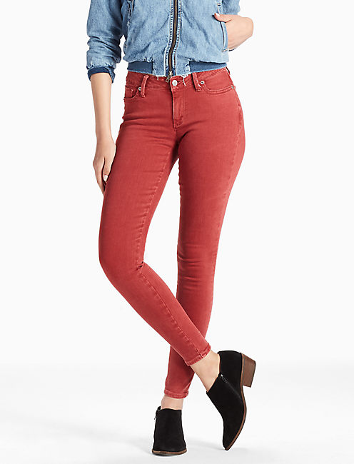 SASHA LEGGING JEAN IN BRICK, CUSTOM BRICK