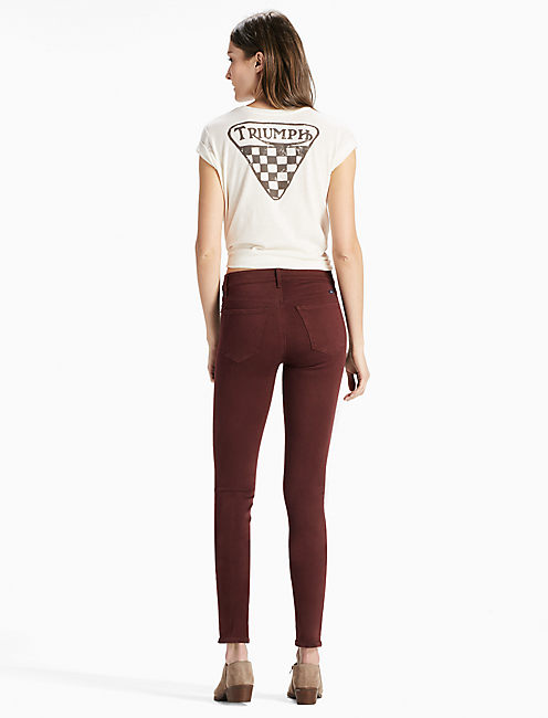 BRIDGETTE HIGH RISE SKINNY JEAN IN BITTER CHOCOLATE,