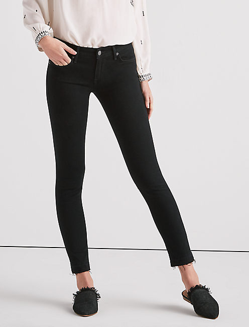 STELLA LOW RISE SKINNY JEAN WITH CUT HEM,