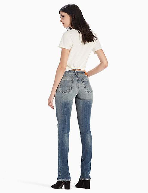 SWEET MID RISE STRAIGHT LEG JEAN IN JAYTON DESTRUCTION, JAYTON DESTRUCTION