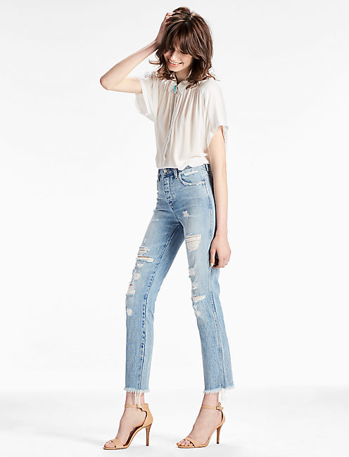 Lucky High Rise Tomboy Cropped Straight Leg Jean In Storyteller