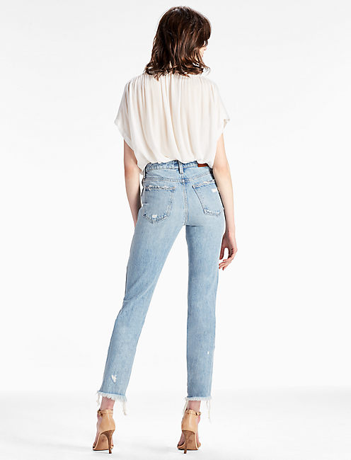 HIGH RISE TOMBOY CROPPED STRAIGHT LEG JEAN IN STORYTELLER, STORYTELLER