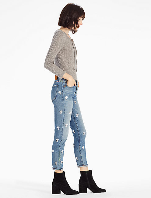 Lucky Lot, Stock And Barrel Sienna Mid Rise Slim Boyfriend Jean