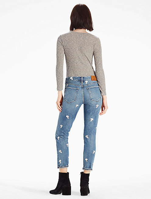 LOT, STOCK AND BARREL SIENNA MID RISE SLIM BOYFRIEND JEAN,