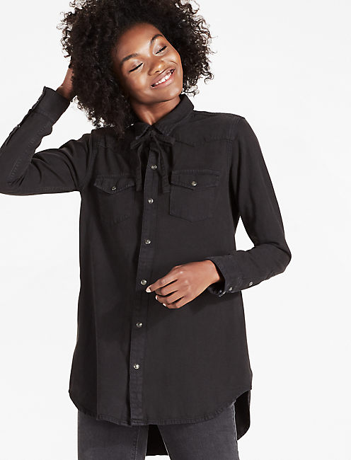 WESTERN TUNIC SHIRT WITH TIE,