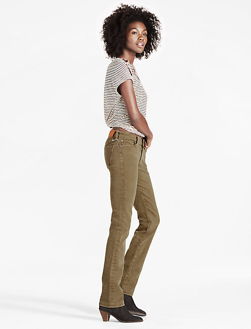 Lucky Sweet Mid Rise Straight Leg Jean In Abbeyfield
