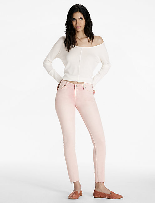Lucky Lolita Mid Rise Skinny Jean In Pleasanton Fray