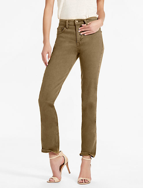 BRIDGETTE HIGH RISE SLIM STRAIGHT JEAN IN ABBEYFIELD, ABBEYFIELD