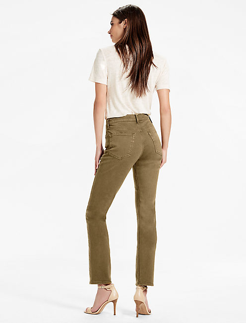 BRIDGETTE HIGH RISE SLIM STRAIGHT JEAN IN ABBEYFIELD,