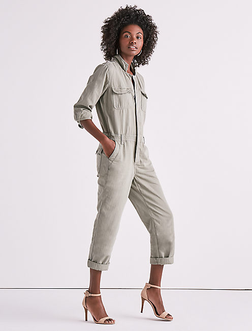 Lucky Boilersuit In Sage