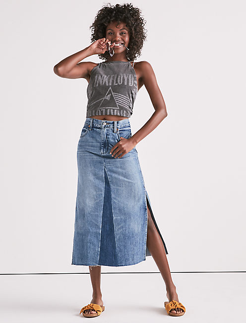 Lucky Customized Denim Skirt In Fairfield