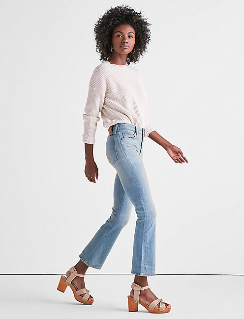 Lucky Bridgette High Rise Cropped Boot Jean In Seacliff