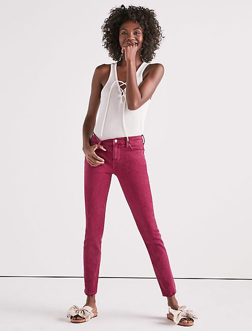 Lucky Ava Mid Rise Skinny Jean In Elegant Burgundy