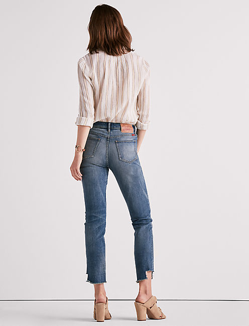 HIGH RISE TOMBOY JEAN WITH SIDE STEP HEM,