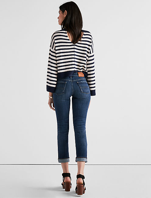 SWEET MID RISE CROP JEAN IN TRIGGER,