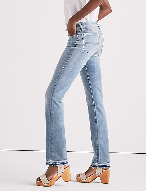SWEET MID RISE STRAIGHT LEG JEAN WITH RELEASED HEM,