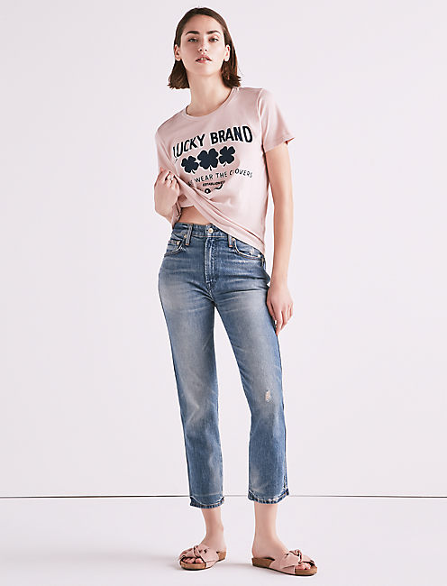 Lucky Made In La Lucky Pins High Rise Taper Jean In Wilkins
