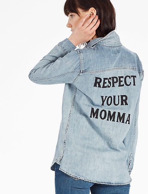 SOUL2SOUL RESPECT YO MOMMA SHIRT,
