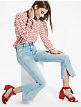 BRIDGETTE HIGH RISE JEAN WITH SIDE SLIT,