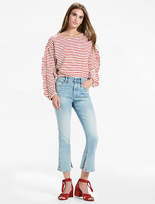 Lucky Bridgette High Rise Jean With Side Slit