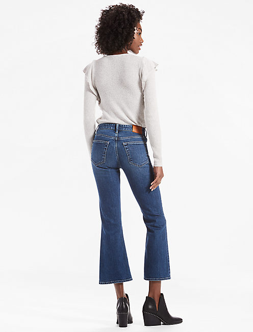 BRIDGETTE CROP FLARE JEAN WITH EXPOSED BUTTON FLY, DAYBREAK