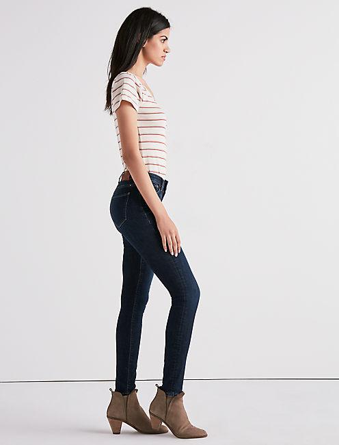 Lucky Sasha Super Skinny Jean In Indigo Lane
