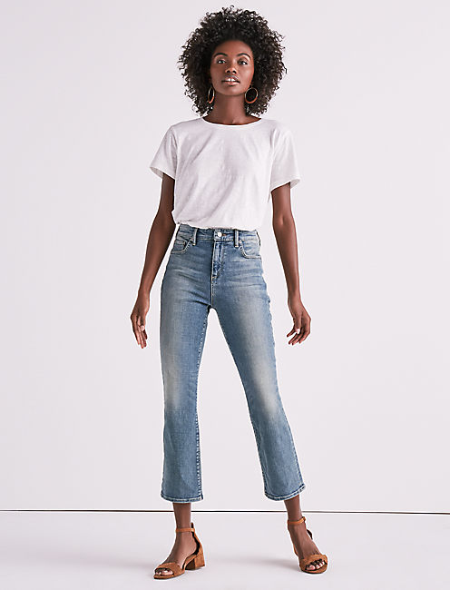 Lucky Bridgette High Rise Crop Flare Jean In Rio Rancho