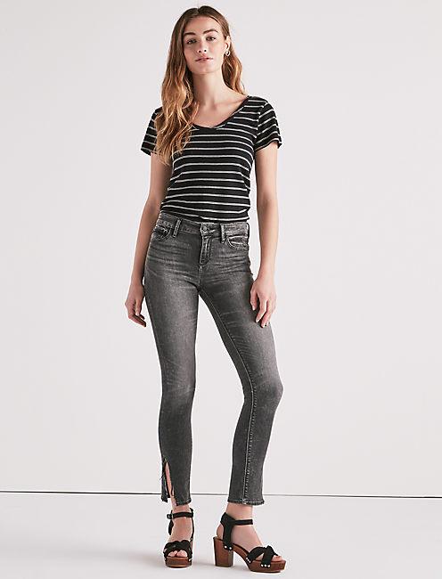 Lucky Ava Mid Rise Skinny Jean In Mora