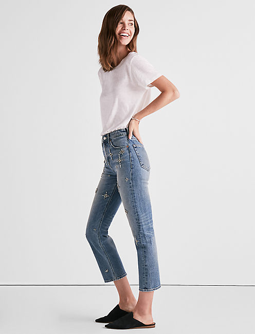 BRIDGETTE HIGH RISE SLIM STRAIGHT LEG JEAN IN TRIBUNE,