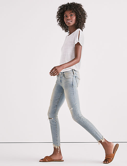 Lucky Destroyed Stella Low Rise Skinny Jean
