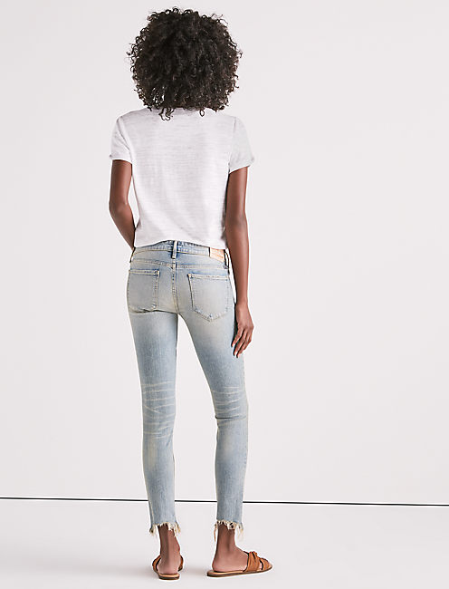 DESTROYED STELLA LOW RISE SKINNY JEAN,