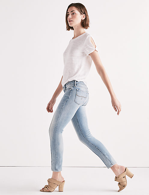 Lucky Lolita Mid Rise Skinny Jean With Pintuck