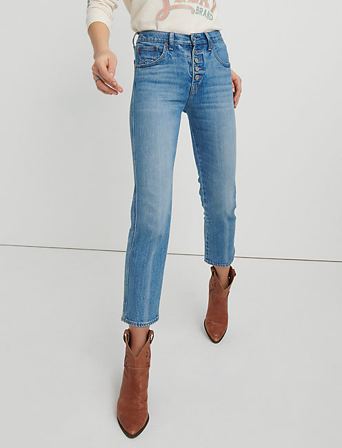c962b89f49 Mid Rise Authentic Straight Crop | Lucky Brand
