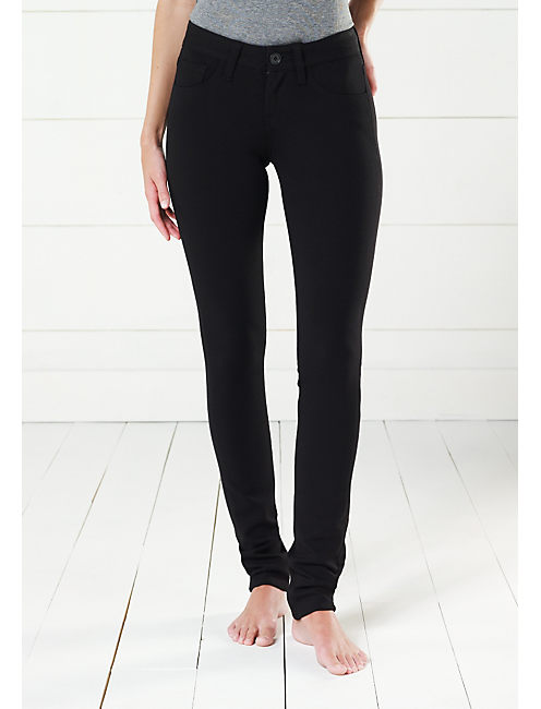 NEW ZOE SKINNY PONTE-LBK, #001 BLACK