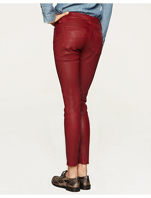LEATHER CHARLIE SKINNY, LUXE RED