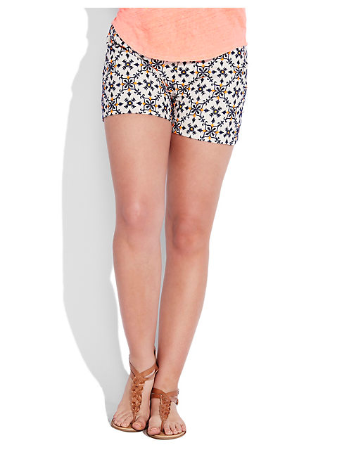 COLORED EYELET SHORT, NATURAL MULTI