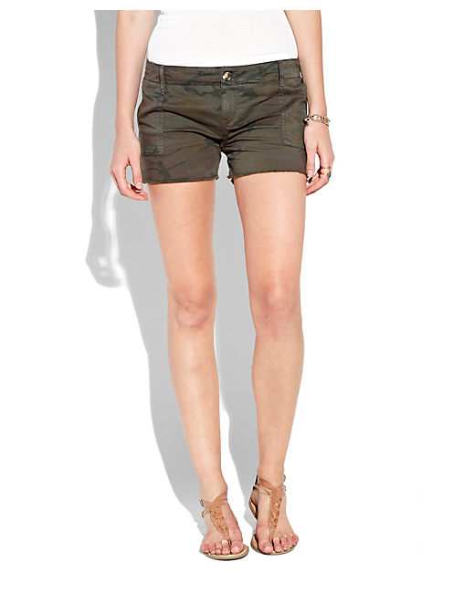 CAMO SHORT, BROWN MULTI