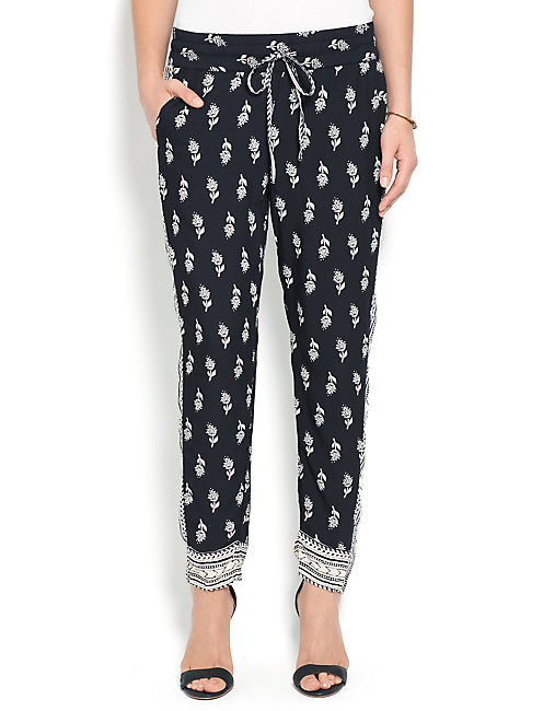 PAISLEY PRINTED PANT, BLACK MULTI