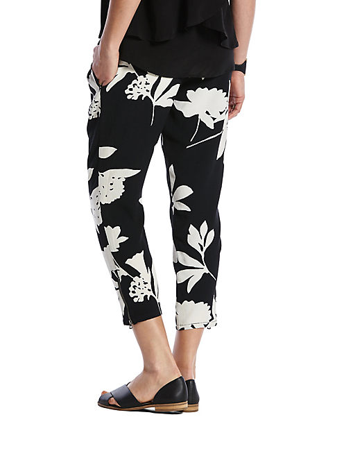 PRINTED VINES PANT, BLACK MULTI